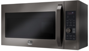 "LSMC3089BD LG Studio 30"" 1.7 cu. ft. Over-the-Range Convection Microwave Oven with Sensor Cook and Circular Wire Rack - Black Stainless Steel"