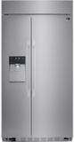 "LSSB2692ST LG Studio 42"" Built-in 25.6 Cu. Ft. Side-by-Side Refrigerator with Tall Ice & Water Dispenser - Stainless Steel"