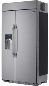 """LSSB2692ST LG Studio 42"""" Built-in 25.6 Cu. Ft. Side-by-Side Refrigerator with Tall Ice & Water Dispenser - Stainless Steel"""