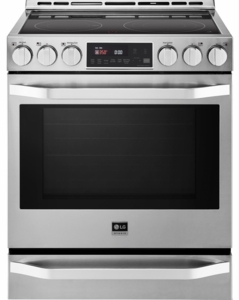 "LSSE3026ST LG Studio 30"" Slide-In Electric Range with 5 Radiant Elements - Stainless Steel"