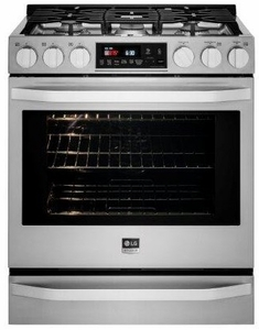LSSG3016ST LG Studio Slide In Gas Range with Warming Drawer - Stainless Steel