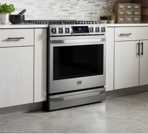 Lssgst Lg Studio Slide In Gas Range With Warming Drawer Stainless Steel