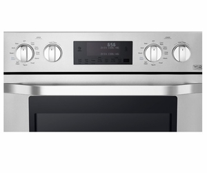 "LSWD306ST LG Studio 30"" Built-in Electric Double Wall Oven with True Convection System - Stainless Steel"