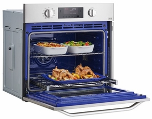 """LSWS306ST LG Studio 30"""" Built-in Single Electric Wall Oven with True Convection System - Stainless Steel"""