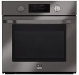 "LSWS309BD LG Studio 30"" Single Wall Oven with 4.7 cu. ft. Capacity with EasyClean and Smart ThinQ - Black Stainless Steel"