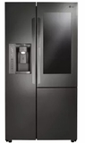"LSXC22396D LG 36"" Counter Depth Refrigerator with InstaView Door-in-Door and SmartThinQ Technology - Black Stainless Steel"