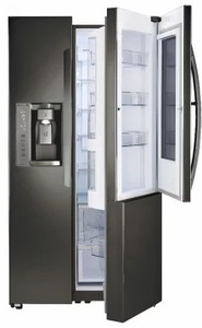 """LSXC22396D LG 36"""" Counter Depth Refrigerator with InstaView Door-in-Door and SmartThinQ Technology - Black Stainless Steel"""