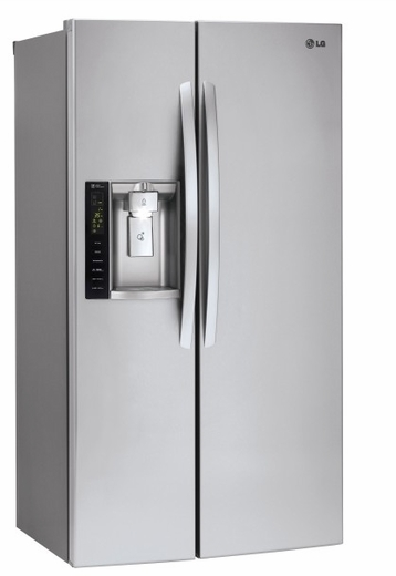 """LSXC22426S LG  36"""" Ultra Large Capacity 21.9 Cu. Ft. Counter Depth Side-by-Side Refrigerator with LED Display and LoDecibel Quiet Operation - Stainless Steel"""