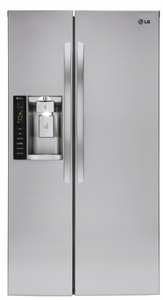 "LSXC22426S LG  36"" Ultra Large Capacity 21.9 Cu. Ft. Counter Depth Side-by-Side Refrigerator with LED Display and LoDecibel Quiet Operation - Stainless Steel"