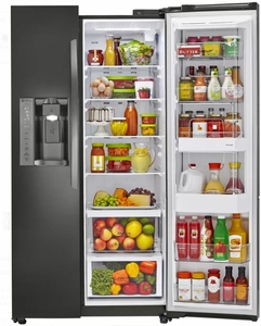 LSXC22486D LG 36 Inch Ultra-Large Capacity Side-by-Side Refrigerator with ColdSaver Panel and Premium LED Lighting - Black Stainless Steel