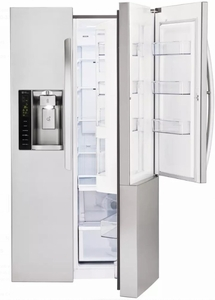LSXC22486S LG 36 Inch Ultra-Large Capacity Side-by-Side Refrigerator with ColdSaver Panel and Premium LED Lighting - Stainless Steel