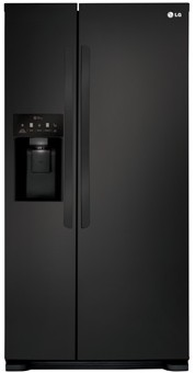 LSXS22423B LG 22 cu. ft. Side-by-Side Refrigerator with Tall Water/Ice Dispenser - Black