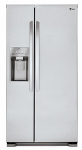 LSXS22423S LG 22 cu. ft. Side-by-Side Refrigerator with Tall Water/Ice Dispenser - Stainless Steel