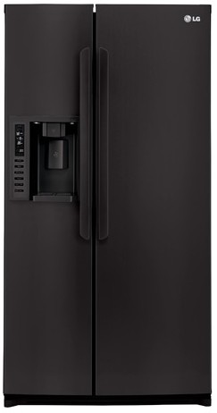 LSXS26326B LG 26 Cu. Ft. Ultra Large Capacity Side-by-Side Refrigerator with Spillprotector Shelves - Black