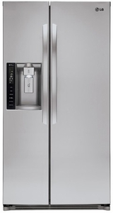 LSXS26326S LG 26 Cu. Ft. Ultra Large Capacity Side-by-Side Refrigerator with Spill Protector Shelves - Stainless Steel