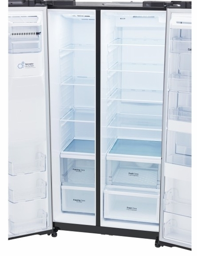 """LSXS26366D LG 36"""" Ultra Capacity 26 Cu. Ft. Side-by-Side Refrigerator with Door-in-Door - Black Stainless Steel"""