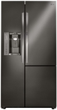 "LSXS26366D LG 36"" Ultra Capacity 26 Cu. Ft. Side-by-Side Refrigerator with Door-in-Door - Black Stainless Steel"