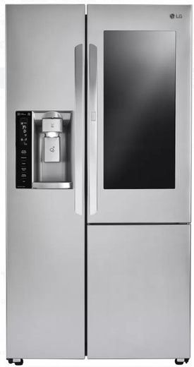 "LSXS26396S LG 36 "" Door-in-Door Side-by-Side Refrigerator with InstaView Window and SmartThinQ Wi-Fi - Stainless Steel"