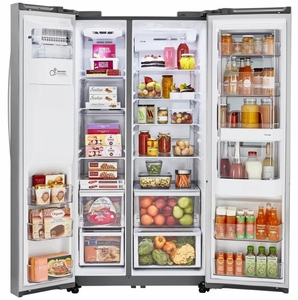 """LSXS26396S LG 36 """" Door-in-Door Side-by-Side Refrigerator with InstaView Window and SmartThinQ Wi-Fi - Stainless Steel"""