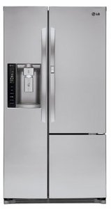 LSXS26386S LG 26 Cu, Ft. UltraLarge Side-by-Side Refrigerator with Door in Door - Stainless Steel