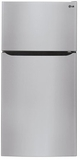 """LTCS20220S LG 20 Cu. Ft. 30"""" Wide Top Mount Refrigerator with Factory Installed Ice System - Stainless Steel"""