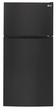 "LTCS24223B LG 24 cu. ft. 33"" Wide Top Mount Refrigerator with Factory-Installed Ice System - Black"
