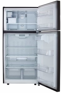 """LTCS24223D LG 33"""" Top Mount 24 Cu. Ft. Refrigerator with Built-in Ice Maker - Black Stainless Steel"""