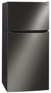 "LTCS24223D LG 33"" Top Mount 24 Cu. Ft. Refrigerator with Built-in Ice Maker - Black Stainless Steel"
