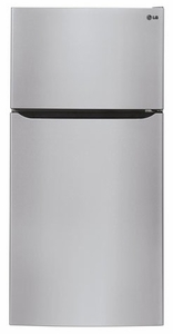 "LTCS24223S LG 24 cu. ft. 33"" Wide Top Mount Refrigerator with Factory-Installed Ice System - Stainless Steel"