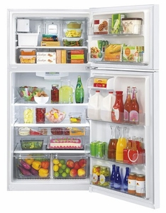 "LTCS24223W LG 24 cu. ft. 33"" Wide Top Mount Refrigerator with Factory-Installed Ice System - White"