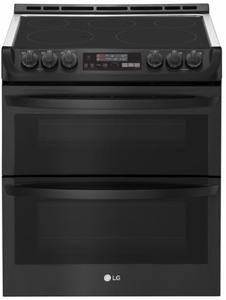 """LTE4815BM LG 30""""  Wi-Fi Enabled Slide-In Electric Double Oven Range with Easy Clean and ProBake Convection - PrintProof Matte Black Stainless Steel"""