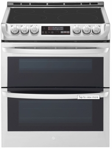 "LTE4815ST LG 30""  Wi-Fi Enabled Slide-In Electric Double Oven Range with Easy Clean and ProBake Convection - Stainless Steel"