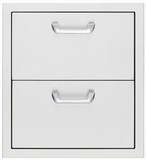 "LUD519 Lynx 19"" Double Drawers - Stainless Steel"