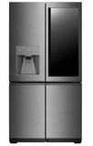 "LUPXC2386N LG Signature 36"" Counter Depth French Door Refrigerator with LUMIShelf Lighting and Instaview Window - Textured Steel"