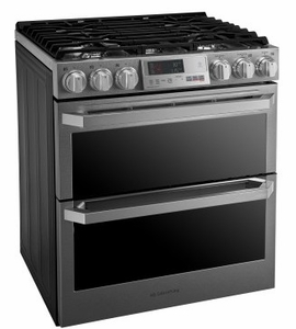 "LUTD4919SN LG Signature 30"" Slide in Dual Fuel Range with Dual Ovens and Speed Roast -  Textured Steel"
