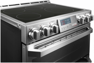 """LUTE4619SN LG Signature 30"""" Slide-In Electric Range with ProBake Convection and Wifi SmartThinQ - Stainless Steel"""