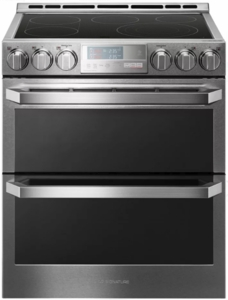 "LUTE4619SN LG Signature 30"" Slide-In Electric Range with ProBake Convection and Wifi SmartThinQ - Stainless Steel"