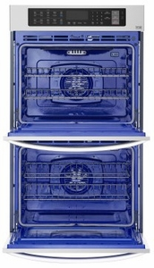"""LWD3063ST LG 30"""" Double Wall Oven with 9.4 cu. ft. Capacity and Convection - Stainless Steel"""