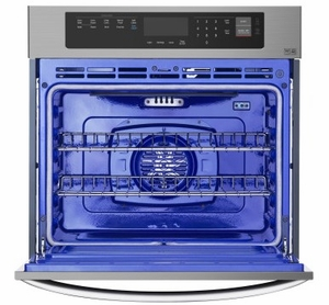 """LWS3063BD LG 30"""" Wall Oven with 4.7 cu. ft. Capacity and Convection - Black Stainless Steel"""