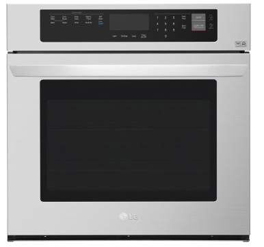 "LWS3063ST LG 30"" Wall Oven with 4.7 cu. ft. Capacity and Convection - Stainless Steel"