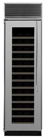 "M24SZ-BGX-L Marvel 24"" Single Zone Full Size Wine Cellar with Black Interior - Left Hinge - Glass Door"