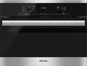 M6160TC Miele ContourLine EasyControl Microwave - Black with Stainless Trim