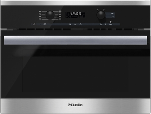 M6260TC Miele PureLine EasyControl Microwave - Black with Stainless Trim