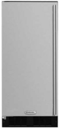 "MA15CLS1LS Marvel 15"" Built-In Ice Maker with White LED Arctic Illuminice Lighting and Easy-to-Clean Hygienic Interior - Left Hinge - Stainless Steel"