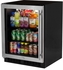 "MA24BCG1LS Marvel 24"" Low Profile ADA Height Beverage Center - Left Hinge - Stainless Steel & Glass"