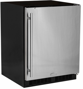 MA24RAS1RS Marvel Low Profile All Refrigerator ADA Refrigerator with MaxStore Crisper - Right Hinge - Stainless Steel