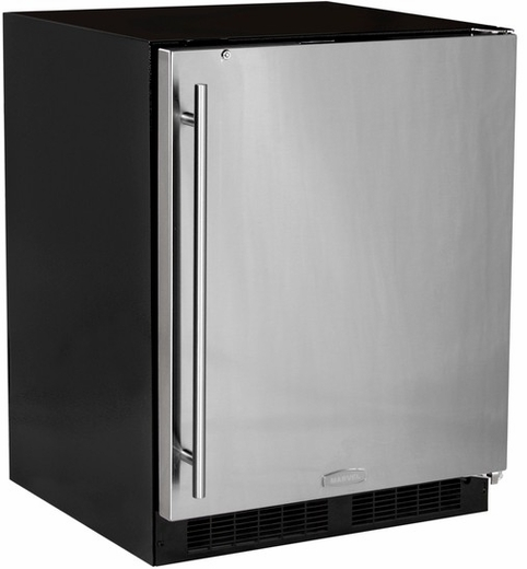 MA24RAS2LB Marvel Low Profile All Refrigerator ADA Refrigerator with MaxStore Crisper - Left Hinge - with Lock - Black