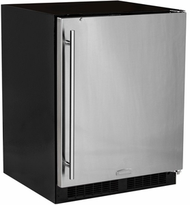MA24RAS2RB Marvel Low Profile All Refrigerator ADA Refrigerator with MaxStore Crisper - Right Hinge with Lock - Black