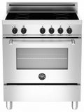 """MAS304INMXE Bertazzoni 30"""" Master Electric Induction Range with 4 Induction Zones - Stainless Steel"""