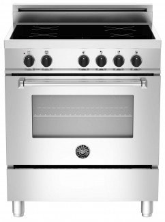 "MAS304INMXE Bertazzoni 30"" Master Electric Induction Range with 4 Induction Zones - Stainless Steel"